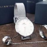 DWのレディース腕時計「Petite Sterling」とそれに合うリング&ネックレスをレビュー