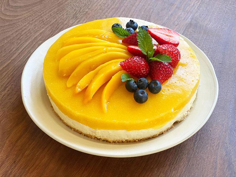 マンゴーレアチーズケーキの作り方-完成!