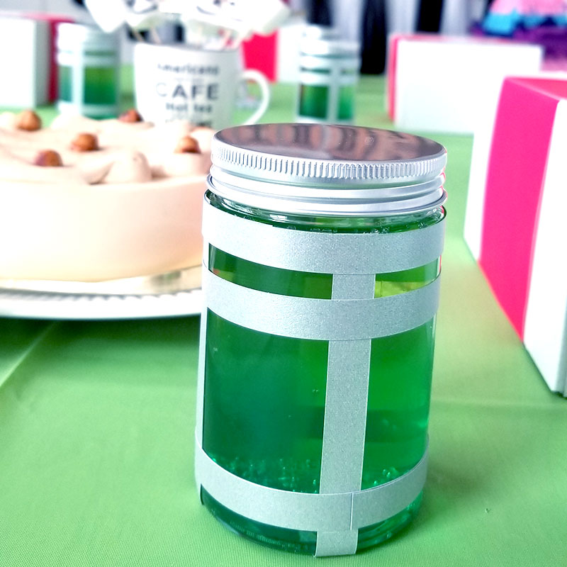 ドリンク フォートナイトをテーマにした小学生男子の誕生日の飾り付け