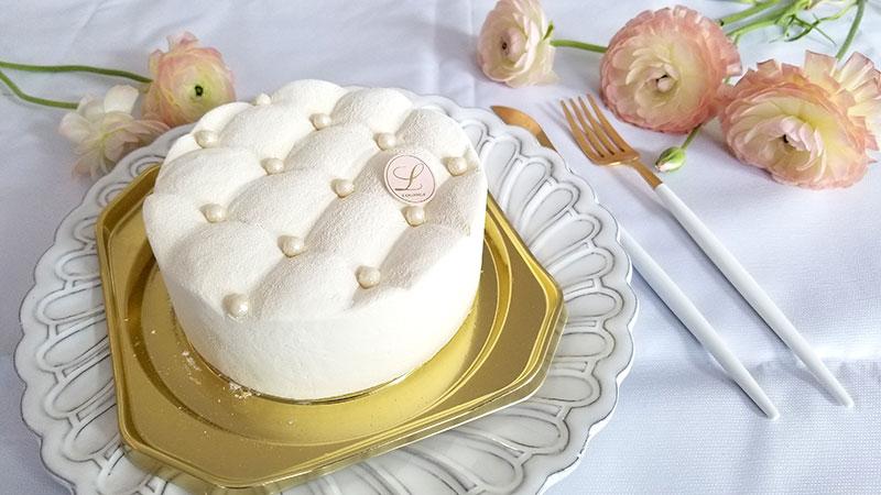 ルワンジュ東京の真っ白なチーズケーキ「マトラッセブラン」