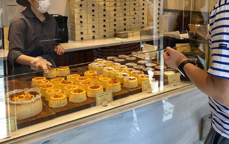 店内 購入 白金高輪「GAZTA(ガスタ)」の本家直伝バスクチーズケーキ