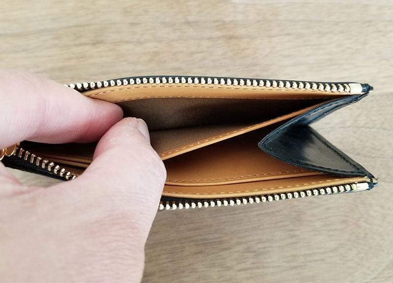 内側ポケット crafstoのブライドルレザーフラグメントケース