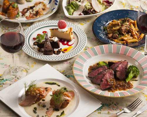 イタリアンとエスニックの創作料理