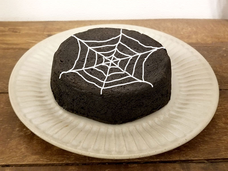 真っ黒チーズケーキ ハロウィン演出バージョン
