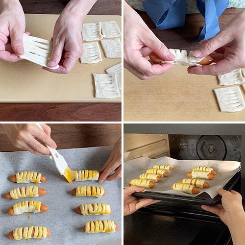 ソーセージパイの作り方