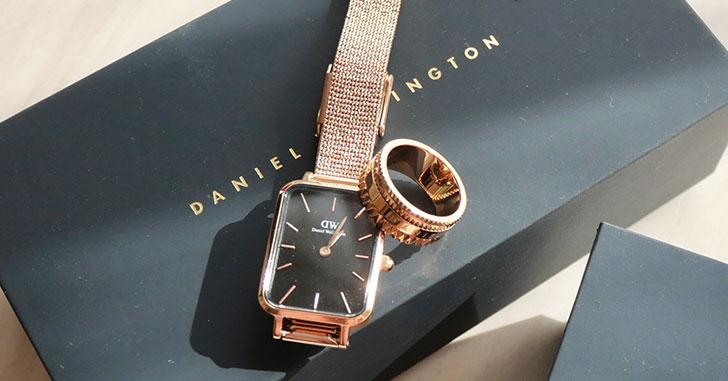 DWのスクエア型腕時計「QUADRO クアドロ(RG BLACK)」と最新リング「ELEVATION エレベーション(RG)」をレビュー!