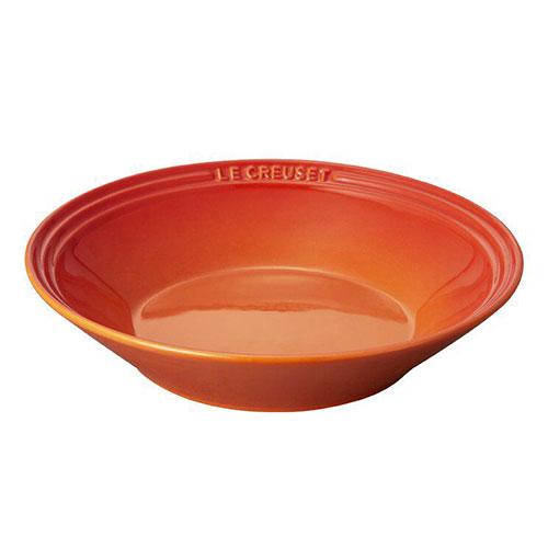 ル・クルーゼのおすすめ食器 ネオ・シャロー・ディッシュ オレンジ 22cm