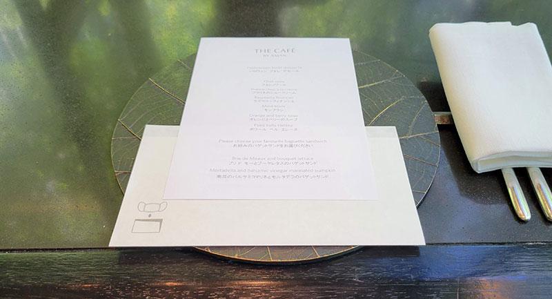 メニュー アマン東京「ザ・カフェ by アマン」でアフタヌーンティー 感想・レビュー