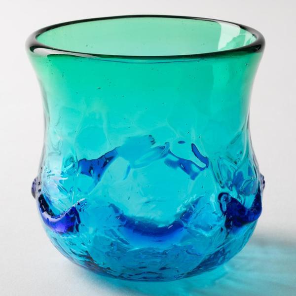 琉球ガラス匠工房 イラブチャー 丸グラス