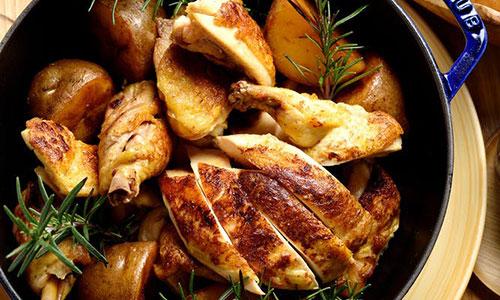 ル・プーレ ブラッスリーうかい 料理 ロティサリーチキン