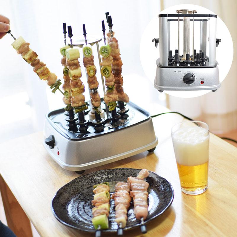 自宅で回る卓上無煙焼き鳥器「自家製焼き鳥メーカー2」 サンコーのおすすめ家電