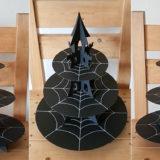 お城の3段ケーキスタンドの作り方〜ハロウィンやシンデレラパーティーに!