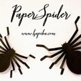 【ハロウィン飾り】画用紙だけで簡単に作れる立体的でリアルな蜘蛛の作り方