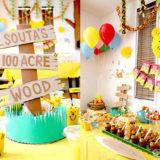 くまのプーさんがテーマの誕生日パーティーの飾り付けアイデア&アクティビティ