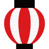 夏祭り風パーティー演出にぴったり! 赤い提灯のガーランド素材