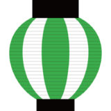 夏祭り風パーティー演出にぴったり! 緑の提灯ガーランド素材