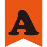 ハロウィンカラーオレンジのアルファベット入りガーランド素材