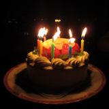 バースデーケーキ(ローソク付き)〜1の写真 | 無料で使える!誕生日のフリー素材(商用利用・加工可)