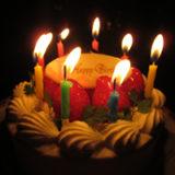バースデーケーキ(ローソク付き)の写真〜2 | 無料で使える!誕生日のフリー素材(商用利用・加工可)