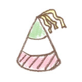 コーンハット/三角帽のイラスト | 無料で使える!誕生日のフリー素材(商用利用・加工可)