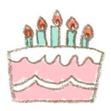 バースデーケーキのイラスト(真横・ロウソク付き) | 無料で使える!誕生日のフリー素材(商用利用・加工可)