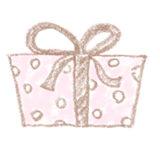 水玉模様のプレゼントのイラスト(真横) | 無料で使える!誕生日のフリー素材(商用利用・加工可)