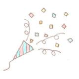 クラッカーのイラスト | 無料で使える!誕生日のフリー素材(商用利用・加工可)