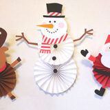 第27回|スノーマンペーパーファンの作り方<クリスマス演出手作りアイデア>